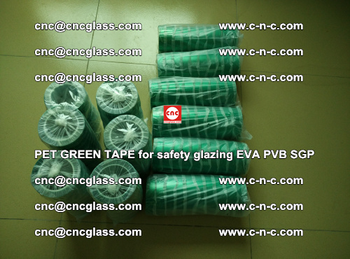PET GREEN TAPE for safety glazing PVB SGP EVA (23)