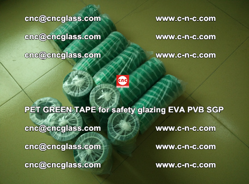PET GREEN TAPE for safety glazing PVB SGP EVA (24)