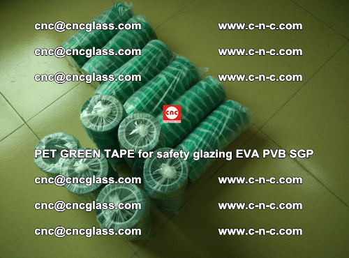 PET GREEN TAPE for safety glazing PVB SGP EVA (25)