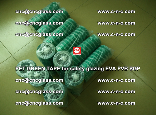 PET GREEN TAPE for safety glazing PVB SGP EVA (26)