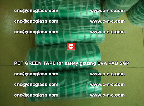 PET GREEN TAPE for safety glazing PVB SGP EVA (32)