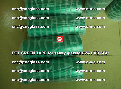 PET GREEN TAPE for safety glazing PVB SGP EVA (34)