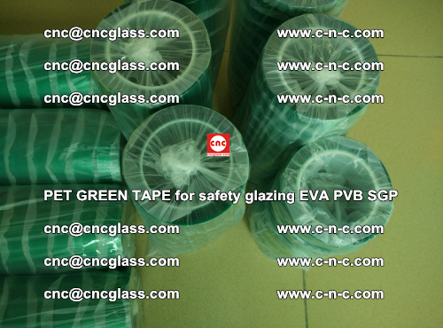 PET GREEN TAPE for safety glazing PVB SGP EVA (38)
