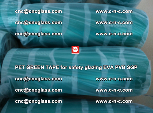 PET GREEN TAPE for safety glazing PVB SGP EVA (45)