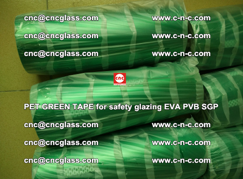PET GREEN TAPE for safety glazing PVB SGP EVA (47)