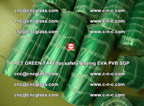 PET GREEN TAPE for safety glazing PVB SGP EVA (50)