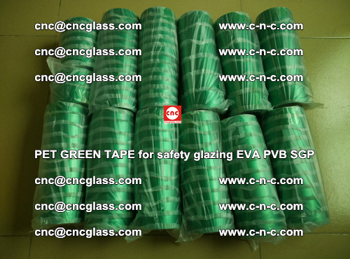 PET GREEN TAPE for safety glazing PVB SGP EVA (55)