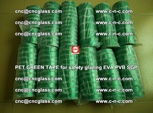 PET GREEN TAPE for safety glazing PVB SGP EVA (58)