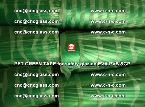 PET GREEN TAPE for safety glazing PVB SGP EVA (60)