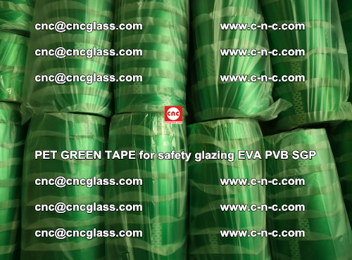 PET GREEN TAPE for safety glazing PVB SGP EVA (62)