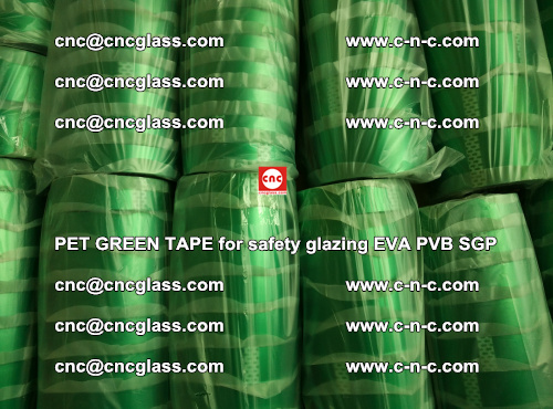 PET GREEN TAPE for safety glazing PVB SGP EVA (63)