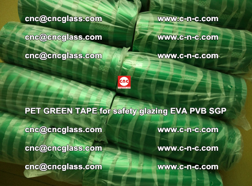 PET GREEN TAPE for safety glazing PVB SGP EVA (65)