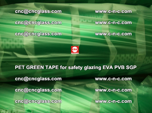 PET GREEN TAPE for safety glazing PVB SGP EVA (67)