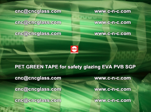 PET GREEN TAPE for safety glazing PVB SGP EVA (68)