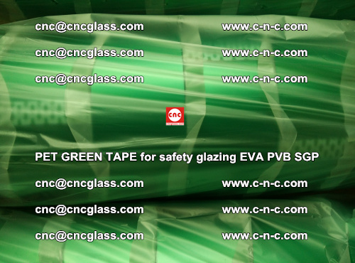 PET GREEN TAPE for safety glazing PVB SGP EVA (69)