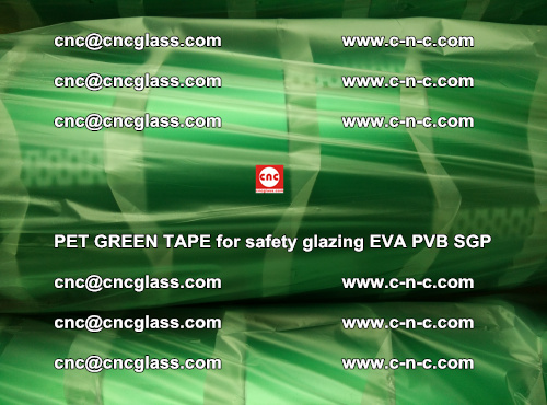 PET GREEN TAPE for safety glazing PVB SGP EVA (70)