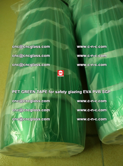 PET GREEN TAPE for safety glazing PVB SGP EVA (74)