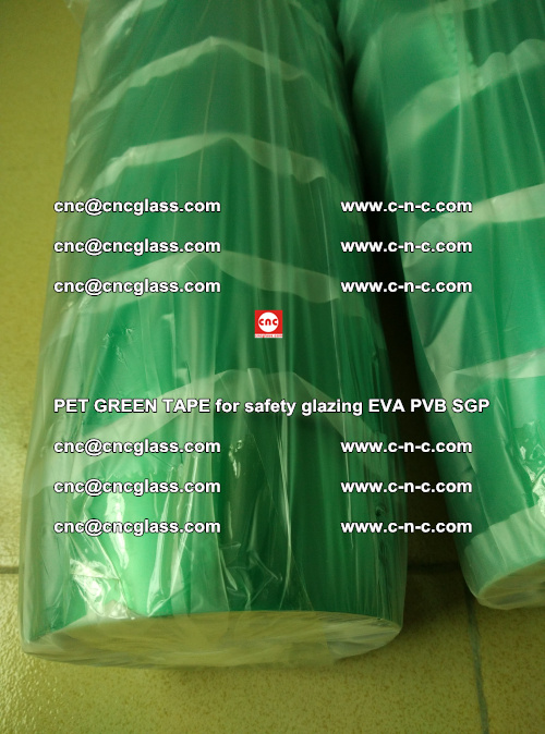 PET GREEN TAPE for safety glazing PVB SGP EVA (75)