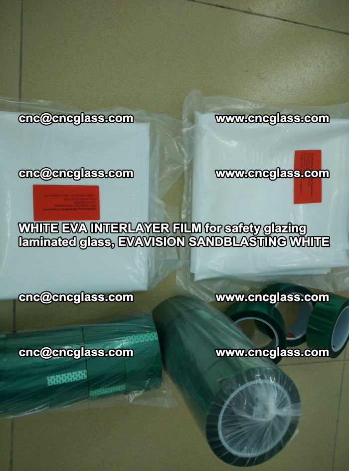 WHITE EVA INTERLAYER FILM for safety glazing laminated glass, EVAVISION SANDBLASTING WHITE (12)