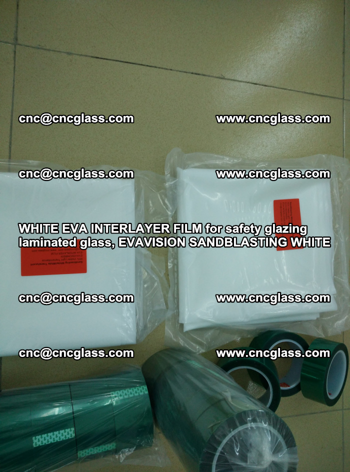 WHITE EVA INTERLAYER FILM for safety glazing laminated glass, EVAVISION SANDBLASTING WHITE (14)