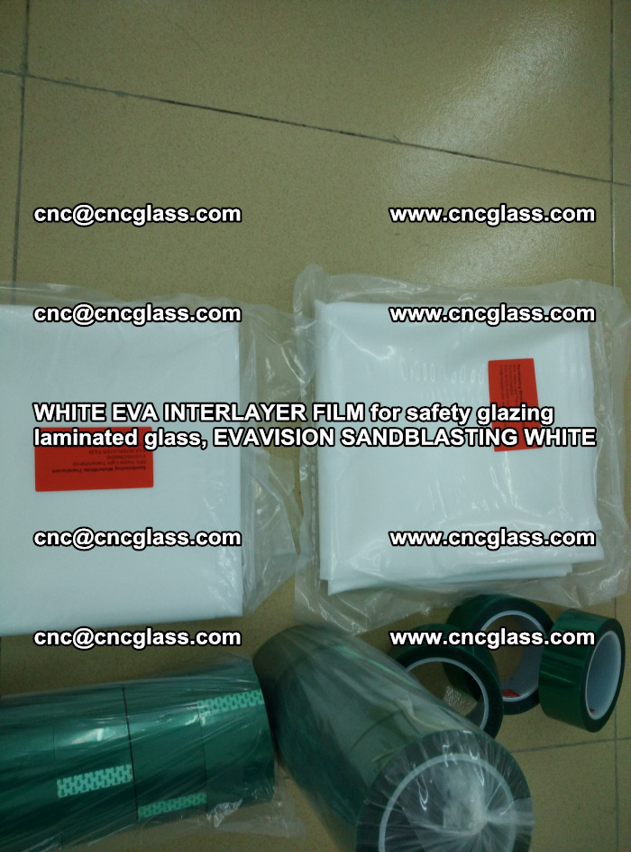 WHITE EVA INTERLAYER FILM for safety glazing laminated glass, EVAVISION SANDBLASTING WHITE (15)