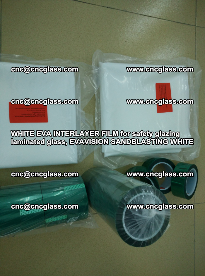 WHITE EVA INTERLAYER FILM for safety glazing laminated glass, EVAVISION SANDBLASTING WHITE (17)