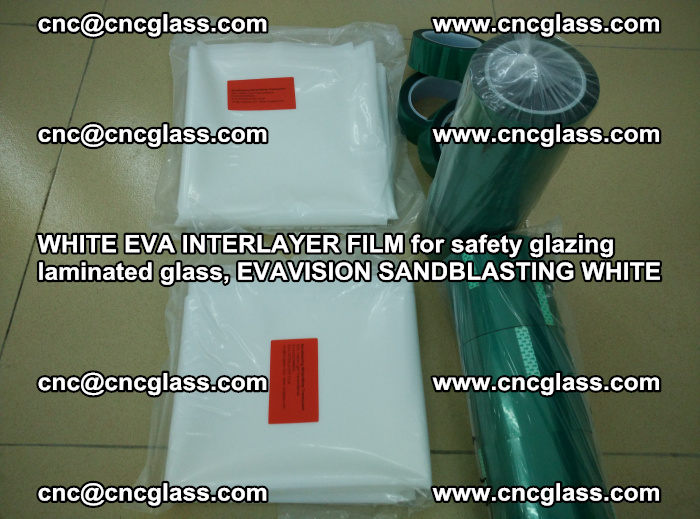 WHITE EVA INTERLAYER FILM for safety glazing laminated glass, EVAVISION SANDBLASTING WHITE (19)
