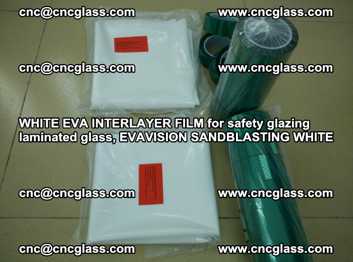WHITE EVA INTERLAYER FILM for safety glazing laminated glass, EVAVISION SANDBLASTING WHITE (21)