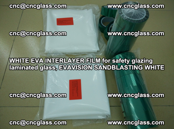 WHITE EVA INTERLAYER FILM for safety glazing laminated glass, EVAVISION SANDBLASTING WHITE (22)