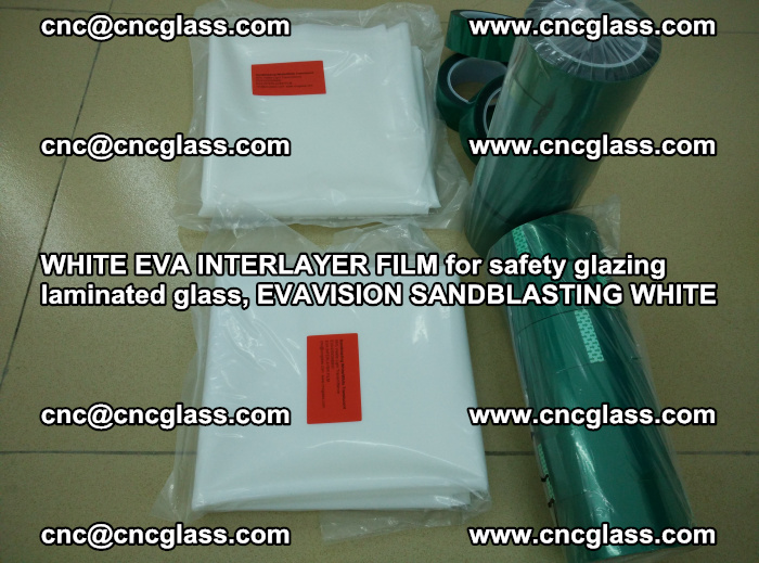 WHITE EVA INTERLAYER FILM for safety glazing laminated glass, EVAVISION SANDBLASTING WHITE (23)