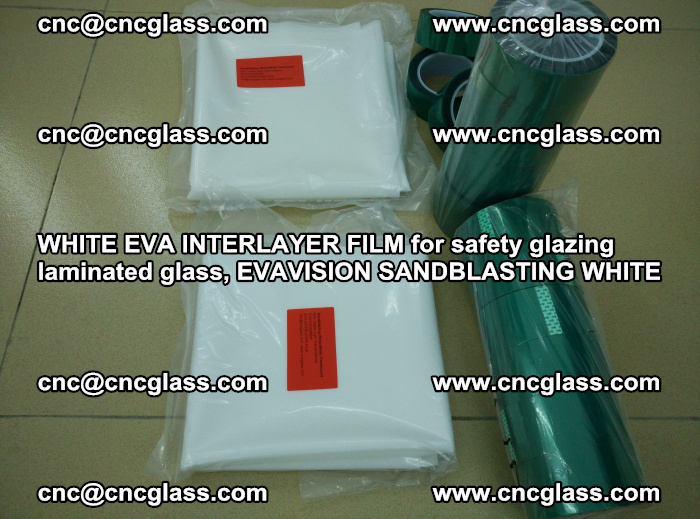 WHITE EVA INTERLAYER FILM for safety glazing laminated glass, EVAVISION SANDBLASTING WHITE (24)