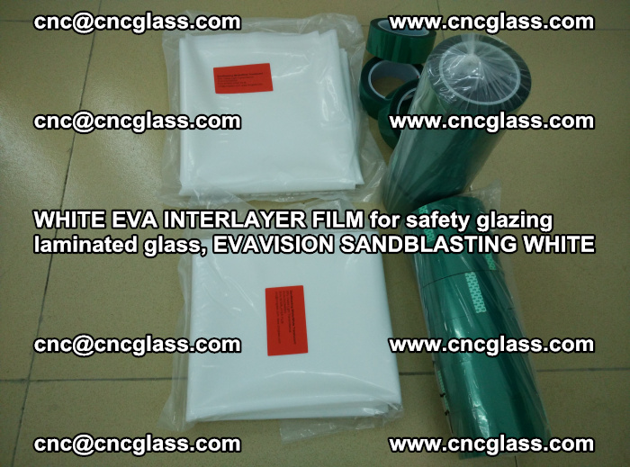 WHITE EVA INTERLAYER FILM for safety glazing laminated glass, EVAVISION SANDBLASTING WHITE (26)