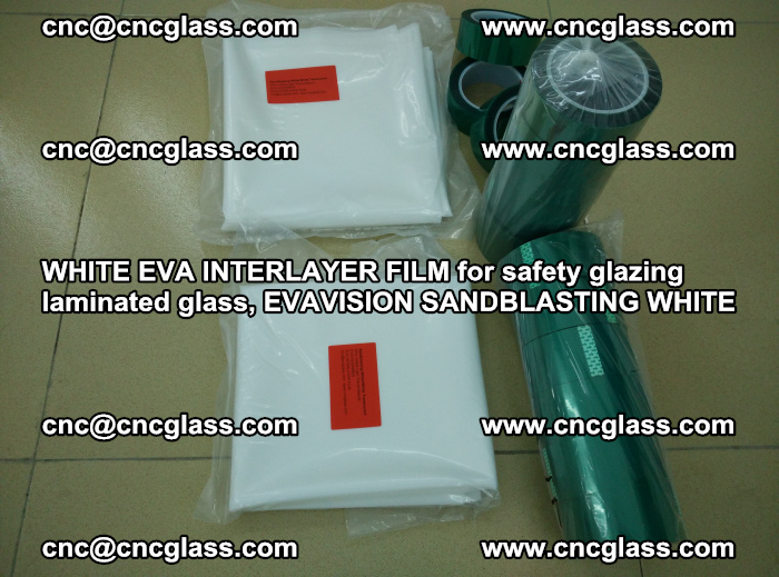 WHITE EVA INTERLAYER FILM for safety glazing laminated glass, EVAVISION SANDBLASTING WHITE (27)