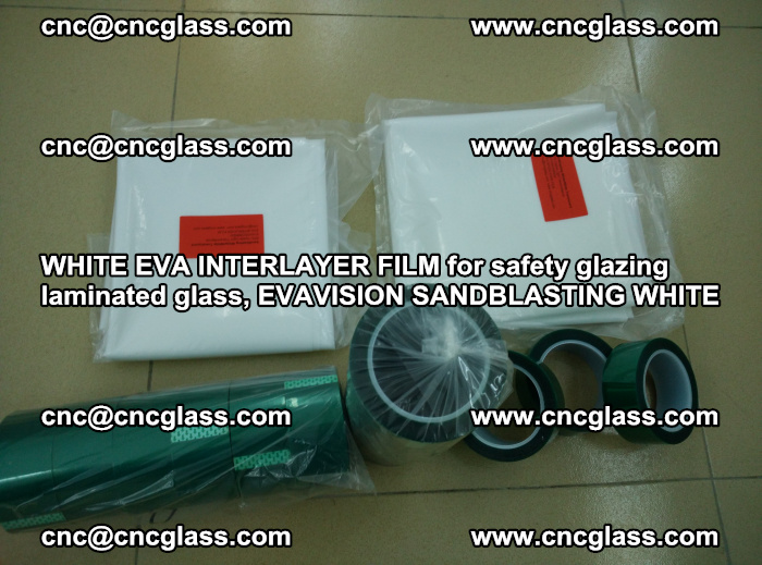 WHITE EVA INTERLAYER FILM for safety glazing laminated glass, EVAVISION SANDBLASTING WHITE (28)