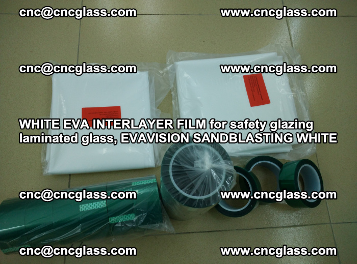 WHITE EVA INTERLAYER FILM for safety glazing laminated glass, EVAVISION SANDBLASTING WHITE (29)