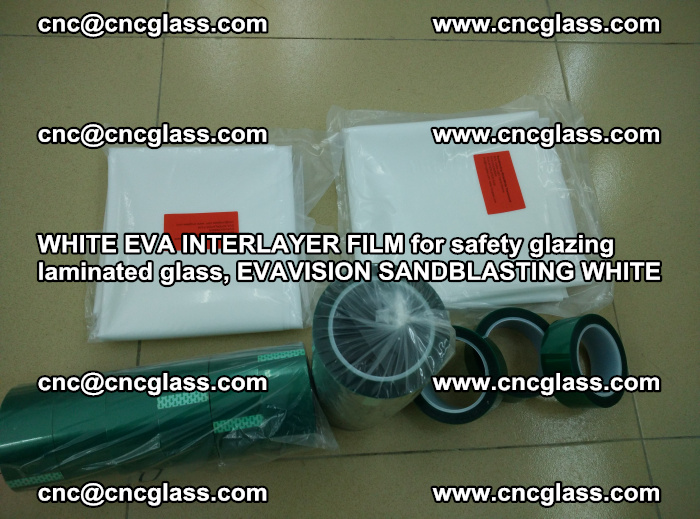 WHITE EVA INTERLAYER FILM for safety glazing laminated glass, EVAVISION SANDBLASTING WHITE (30)