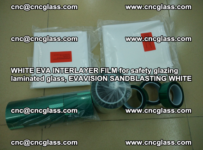 WHITE EVA INTERLAYER FILM for safety glazing laminated glass, EVAVISION SANDBLASTING WHITE (31)