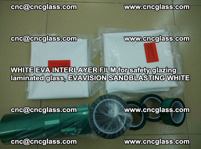 WHITE EVA INTERLAYER FILM for safety glazing laminated glass, EVAVISION SANDBLASTING WHITE (32)