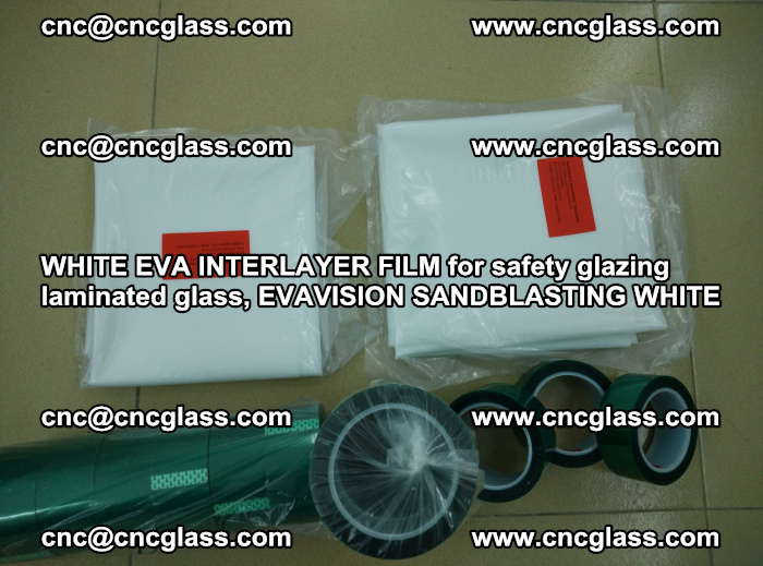 WHITE EVA INTERLAYER FILM for safety glazing laminated glass, EVAVISION SANDBLASTING WHITE (33)