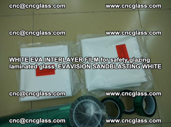 WHITE EVA INTERLAYER FILM for safety glazing laminated glass, EVAVISION SANDBLASTING WHITE (36)