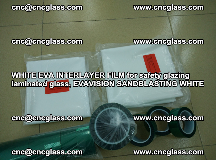 WHITE EVA INTERLAYER FILM for safety glazing laminated glass, EVAVISION SANDBLASTING WHITE (39)