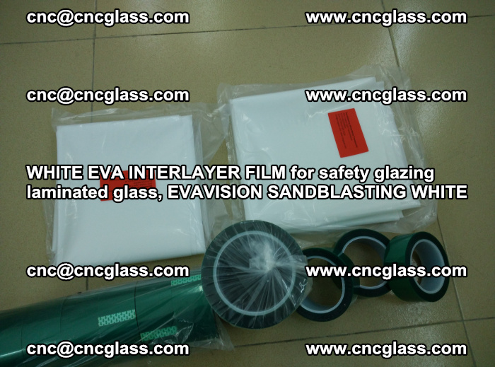WHITE EVA INTERLAYER FILM for safety glazing laminated glass, EVAVISION SANDBLASTING WHITE (40)
