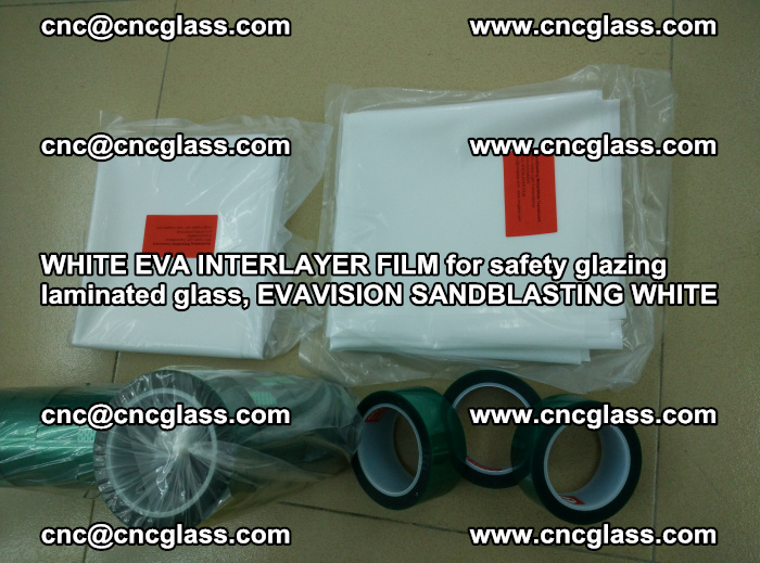 WHITE EVA INTERLAYER FILM for safety glazing laminated glass, EVAVISION SANDBLASTING WHITE (43)