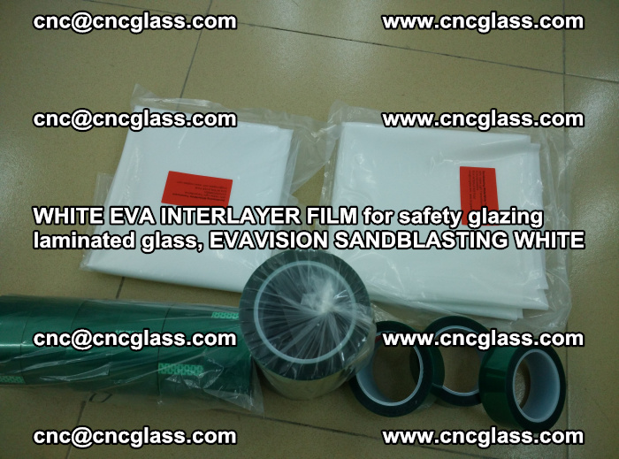WHITE EVA INTERLAYER FILM for safety glazing laminated glass, EVAVISION SANDBLASTING WHITE (51)