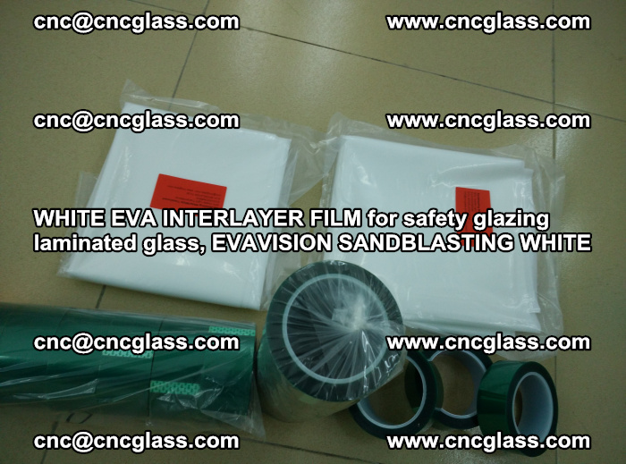 WHITE EVA INTERLAYER FILM for safety glazing laminated glass, EVAVISION SANDBLASTING WHITE (52)