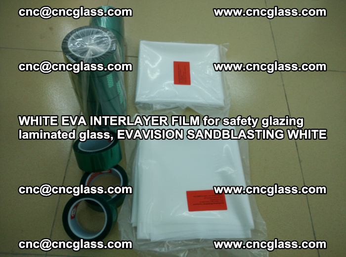WHITE EVA INTERLAYER FILM for safety glazing laminated glass, EVAVISION SANDBLASTING WHITE (56)