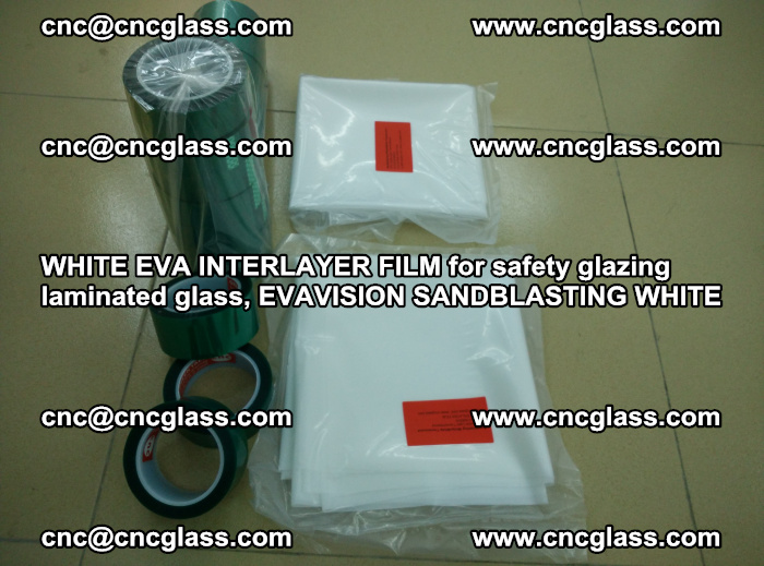 WHITE EVA INTERLAYER FILM for safety glazing laminated glass, EVAVISION SANDBLASTING WHITE (57)