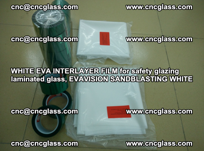 WHITE EVA INTERLAYER FILM for safety glazing laminated glass, EVAVISION SANDBLASTING WHITE (58)
