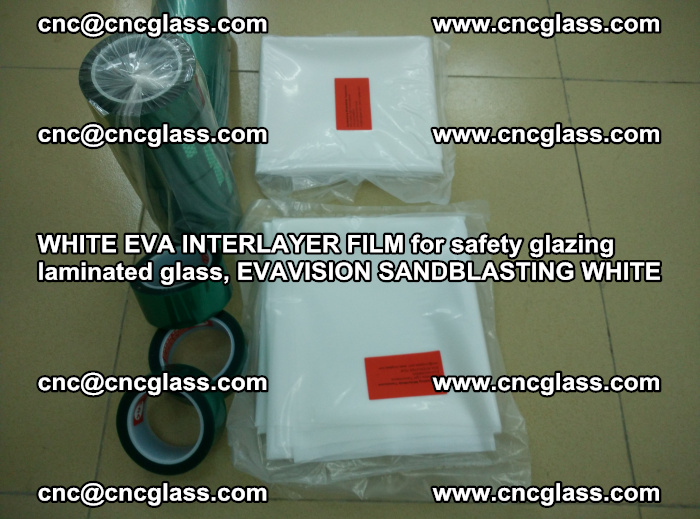 WHITE EVA INTERLAYER FILM for safety glazing laminated glass, EVAVISION SANDBLASTING WHITE (61)