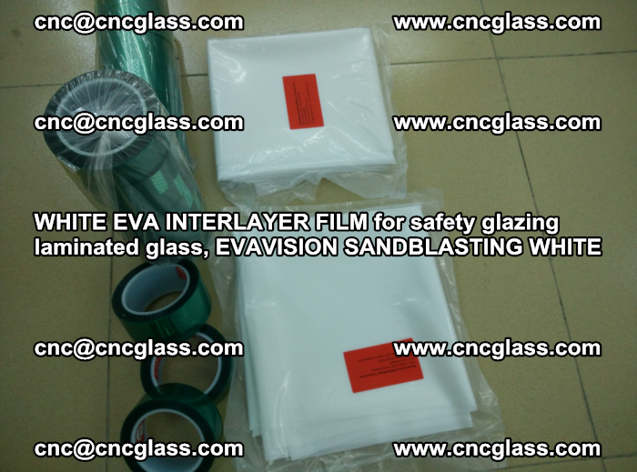 WHITE EVA INTERLAYER FILM for safety glazing laminated glass, EVAVISION SANDBLASTING WHITE (64)